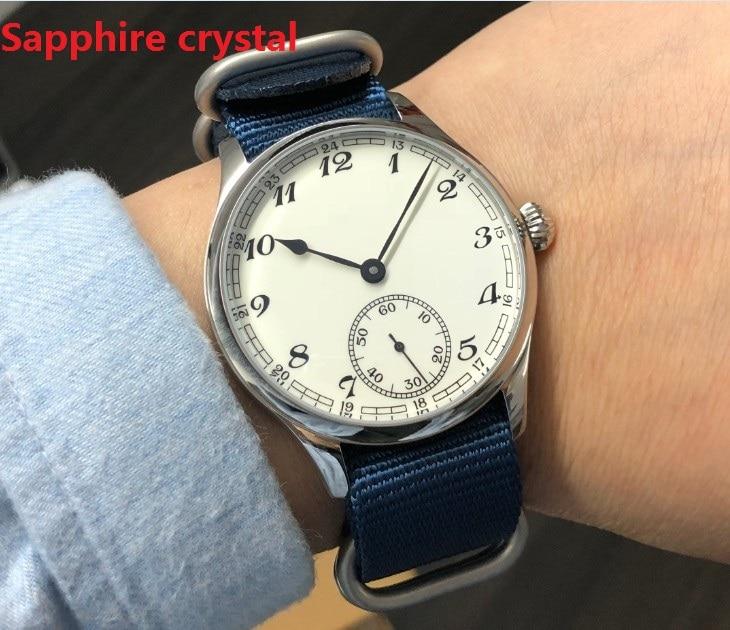 Sapphire Crystalnew  fashion 44mm NO logo Enamel White dial Asian 6498 17 jewels  movement  Men's Mechanical watches GR45 20|wristwatch|wristwatch mens|wristwatch mechanism - title=