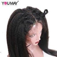 250 densité pleine dentelle perruques avec bébé cheveux crépus droit brésilien pré plumé pleine dentelle perruques de cheveux humains pour les femmes que vous pouvez Remy