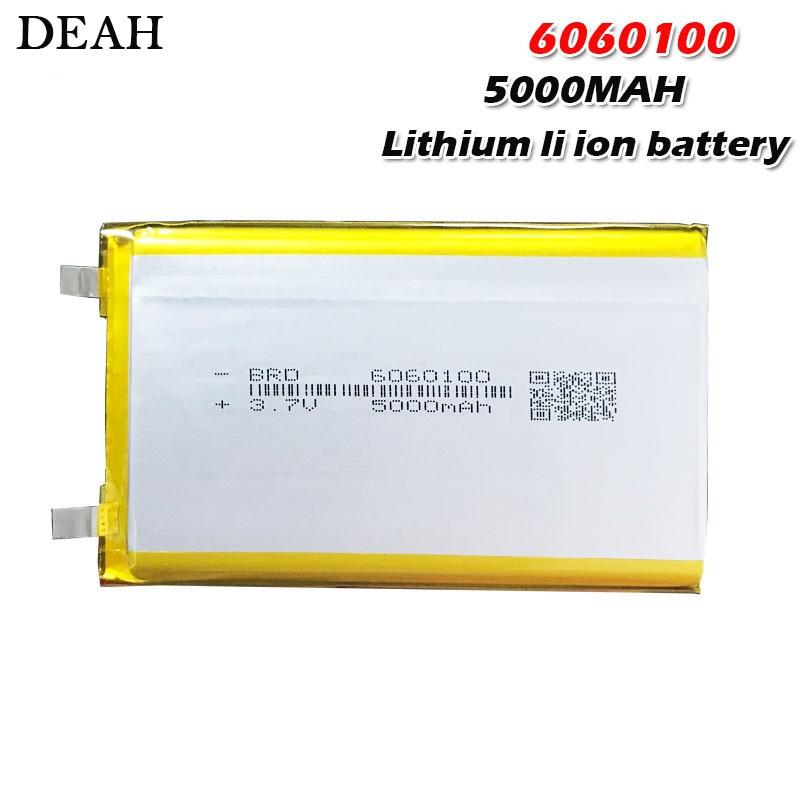 3,7 V 5000mAh 6060100 полимер литий Липо аккумуляторная батарея для GPS PSP DVD PAD тахограф power bank динамик прожектор Перезаряжаемые батареи      АлиЭкспресс