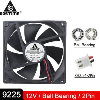2PCS Gdstime 9cm 92mm x 25mm DC 12V 2pin Cooling Fan 92x92x25mm Brushless DC Cooling Cooler PC CPU Computer Case Fan Cooler 25mm x 10mm 2pin dc 12v 0 05a black plastic mini cooling fan