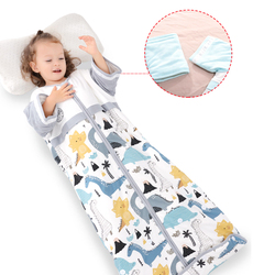 Cotton Baby Sleeping Bag Print Zipper Long Sleeve Newborn Anti-Kicked Sleep Sack Baby Bedding Products For 0-12 Months Baby Se24