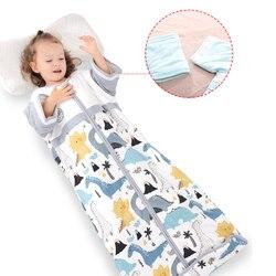 Katoenen Baby Slaapzak Print Rits Lange Mouw Pasgeboren Anti-Geschopt Slaap Zak Baby Beddengoed Producten Voor 0- 12 maanden Baby Se24
