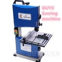 Guyx 220 v 9.5 polegadas com led multi-funcional serra de fita vertical máquina de serra de serra de fita de metal pequeno jig viu máquina de grânulo