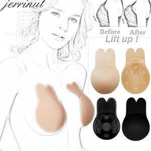 jerrinut Wholesale 3 pairs 5 pairs 10 pairs Strapless Bra Reusable Women Lift Nipple Invisible Adhesive Bra Push Up Silicone Bra