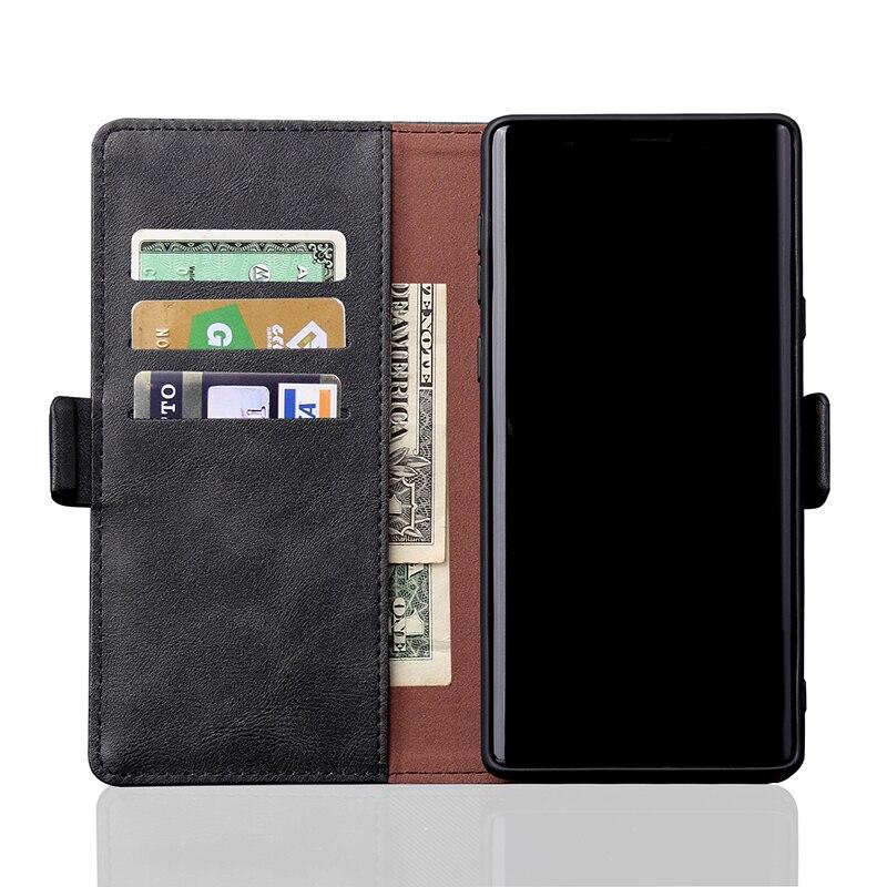 Lyxigt lädertelefonfodral för Samsung S10 S9 S8 Plus S10e - Reservdelar och tillbehör för mobiltelefoner - Foto 2