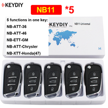 5Pcs/Lot NB11 Multi functional 3 Button KD Remote Control for KD900 KD900+ URG200 KD X2 (All Functions Chips in One Key)