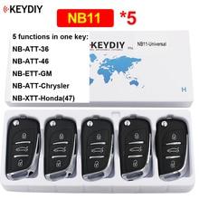 Mando a distancia multifuncional NB11, 3 botones, KD, 5 unidades por lote, para KD900, KD900 + URG200 KD X2 (todas las funciones, Chips en una tecla)