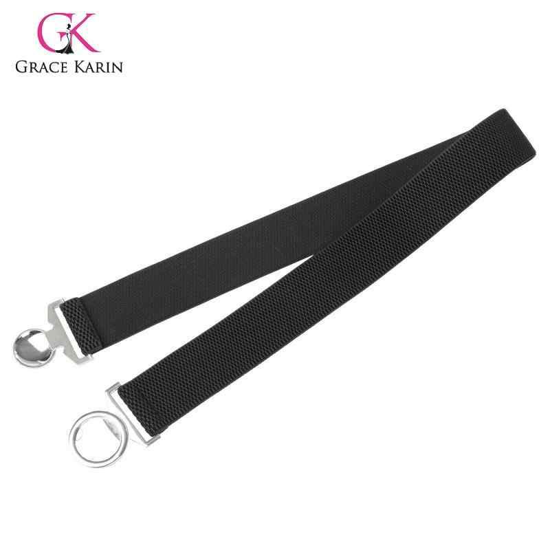 Grazia Karin Donne Del Vestito Abbigliamento Accessorie Elastico in Vita Cinghia 2020 di Nuovo Modo Cintura Cintura D'argento Fibbia Rotonda Cinturon Mujer