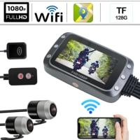 GPS WIFI 1080 HD Camera Moto Front Rear Dual Lens Driving Video Recorder Dash Cam Motorcycle DVR Bike FHD Record Control Tracker