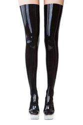 Sexy Latex Women Stockings Rubber Black Long Socks Gummi 0.4mm Unique Thigh-Highs