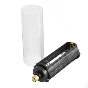 Mayitr 2 in 1 New 1pcs White 18650 Battery Sheath Tube + 1pcs Plastic AAA Battery Holder Case Box Set For Flashlight Torch Lamp(Hong Kong,China)