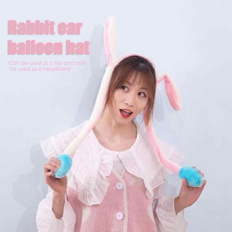 Coniglio Cappello Luminoso Shake Spostare Orecchie Breve Peluche Cerchio Dei Capelli Gasbag Personalità Coniglietto Divertente Gioco Giocattolo Per Bambini Costume Regalo