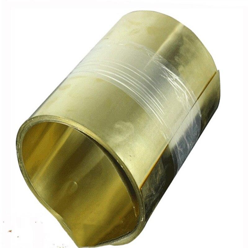 1PC Brass Metal Thin Sheet Foil Plate Thick 0.05/0.1/0.15/0.2/0.3/0.4/0.5/0.6-1mm X 200mm X1000mm