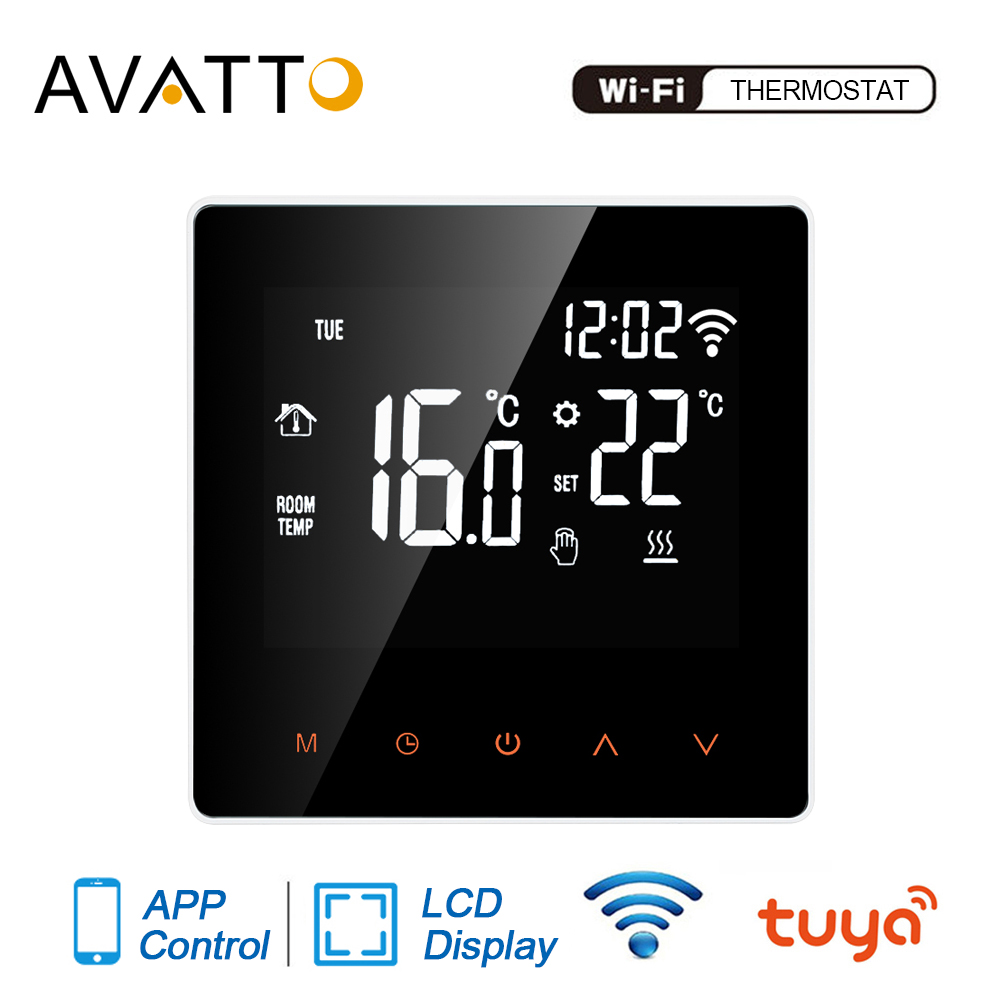 AVATTO WiFi Smart Thermostat,Water/Electric Floor Heating Water/Gas Boiler Temperature Controller With Tuya APP Remote Control