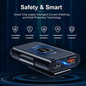 Image 4 - QGEEM 4 USB QC 3.0 Xe Ô Tô Quick Charge 3.0 Điện Thoại Trên Ô Tô Nhanh Mặt Trước Sau Adapter Sạc Xe Ô Tô Di Động Sạc cắm Dành Cho iPhone
