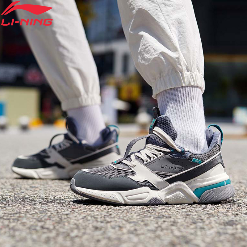 Li-Ning Men 001 R-1 Classic Leisure Lifestyle Shoes Hit-Color Retro Dad Shoes LiNing Li Ning Sport Sneakers AGCP061 YXB308