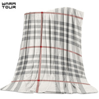 Classic Beige Plaid Pattern Geometry Printed Nap Blanket Soft Comfortable Velvet Plush Plaid Blankets Warm Sofa Bed Sheets