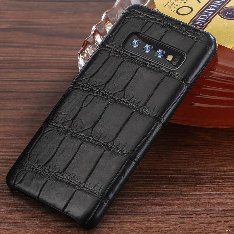 Luxe 100% D'origine Crocodile En Cuir étui pour samsung Galaxy s10 plus marvel couverture Pour Note 10 plus a50 a70 A40 A30 a7 a8 2018