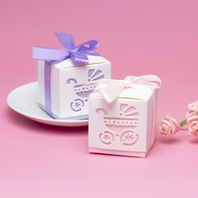 10pcs/lot Paper Candy Box Hollow Baby Gift Boxes Wedding Favors Cute Personality Chocolate Box