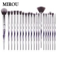 20pcs New Gradient Color Unicorn Makeup Brush Sets Blending Details Eye Shadow Powder Set high quality professional makeu