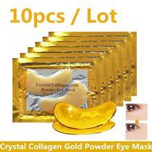 10 шт Кристалл коллагена и напылением золотистого цвета; Глазная