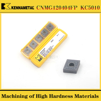 10PCS kennametal CNMG120404FP/MS CNMG120408MP/MS KC5010 High Hardness Stainless Steel Turning Blade