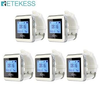 Приемник часов RETEKESS, 5 шт., беспроводная система вызова, пейджер для вызова, оборудование для ресторана, клиентская поддержка F3288B