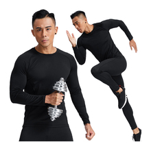 Soccer Jersey Long-Sleeve Compression Shirt Training Bodybuilding Quick-Dry Men Top Tights