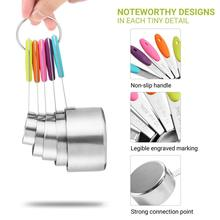 High quality Stainless Steel Measuring Spoons Ten Sets of Seasoning Spoon Baking  measuring cups and spoons cup