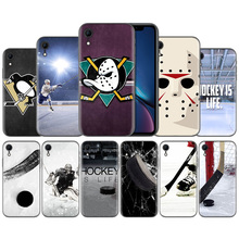 Hockey Is Life Pattern Silicone Ultra-thin Silicone Case Cover for