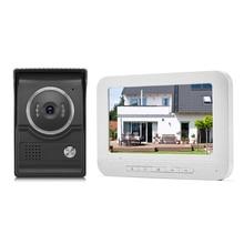 Timbre de puerta de vídeo de 7 pulgadas intercomtft lcd, pantalla a Color, visión nocturna, impermeable, pantalla para desbloquear para casa, apartamento, Villa