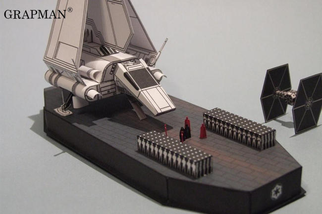 Emperor Arrives Star Wars 3D Paper Model DIY Puzzle Manual Papercrafts Toy