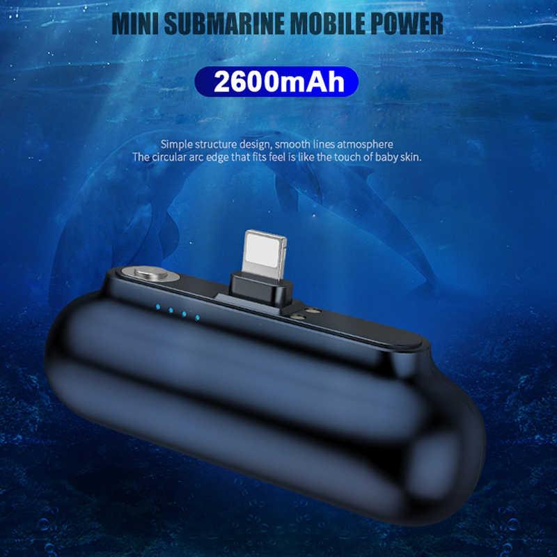 2600mAH mini powerbank powrót bateria USB Micro type-c kabel do iPhone 11 Xs Samsung Xiaomi przenośna ładowarka magnetyczna banku mocy