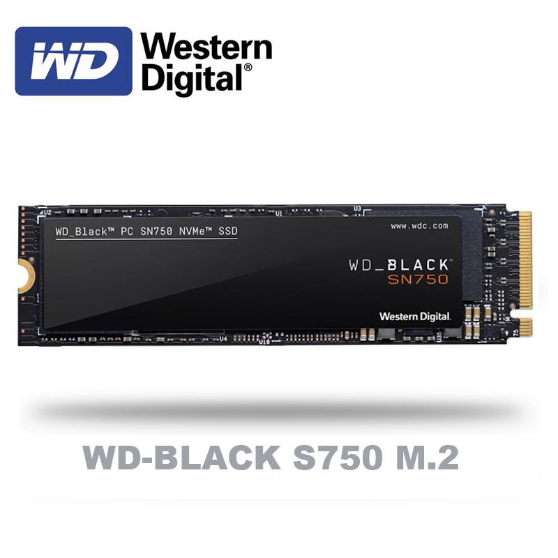 Western Digital WD BLACK SN750 SSD 250GB 500GB 1TB M.2 2280 NVMe PCIe Gen3*4 Internal Solid State Drive For PC Laptop NoteBook(China)