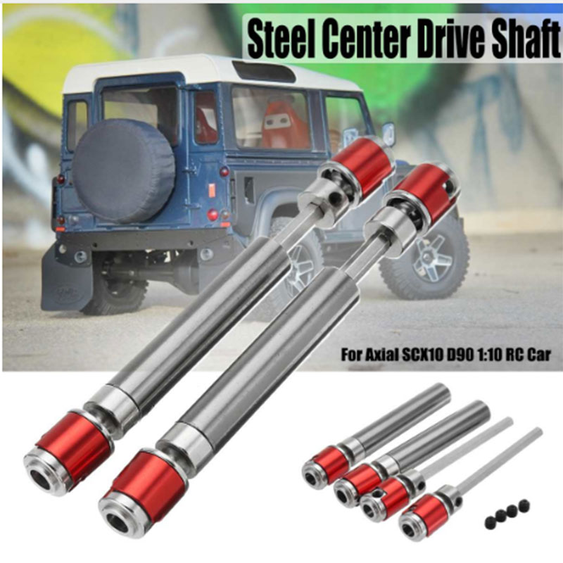 Steel Crawler Drive Shaft CVD For 1:10 Scale Models RC Car SCX10 D90 D110