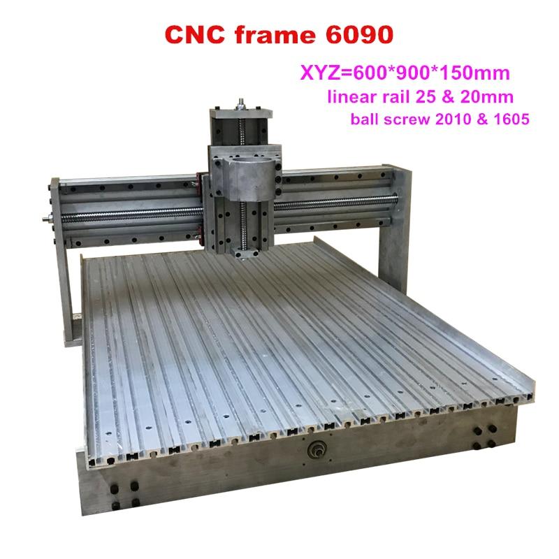 DIY 6090 CNC Router Frame Linear Guideway Rail Engraver Machine Kit Ball Screw