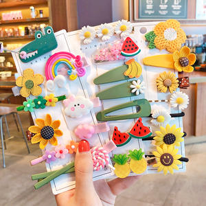 Rubber Bands Hairpins Hair-Accessories Flower Gift Fruit Girls Kids Children Cute Cartoon