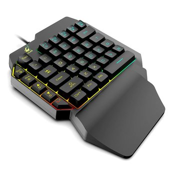 Waterproof Left Hand Colorful One-Handed Keyboard God Throne Left Hand =Feel Game Keyboard danny tobey god game