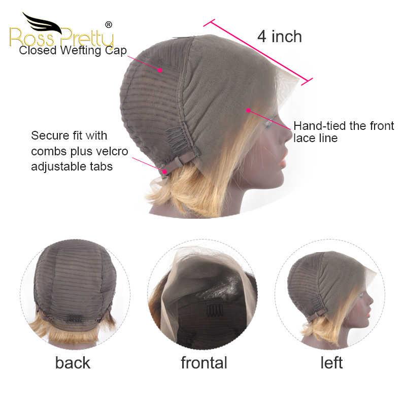 Pixie cut pruiken korte braziliaanse remy haarkant Ombre 1b 27 99j 613 voor zwarte vrouwen Denisty 150% ross Pretty Hair