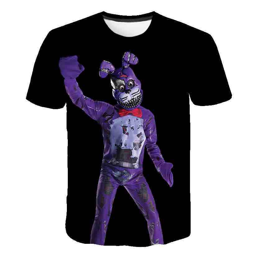 Lucu Permainan Fnaf 3D T Shirt Anak Baru Fnaf Kaos Lima Malam Di Freddy Musim Panas Streetwear Kaos T-shirt anime Kartun Atasan