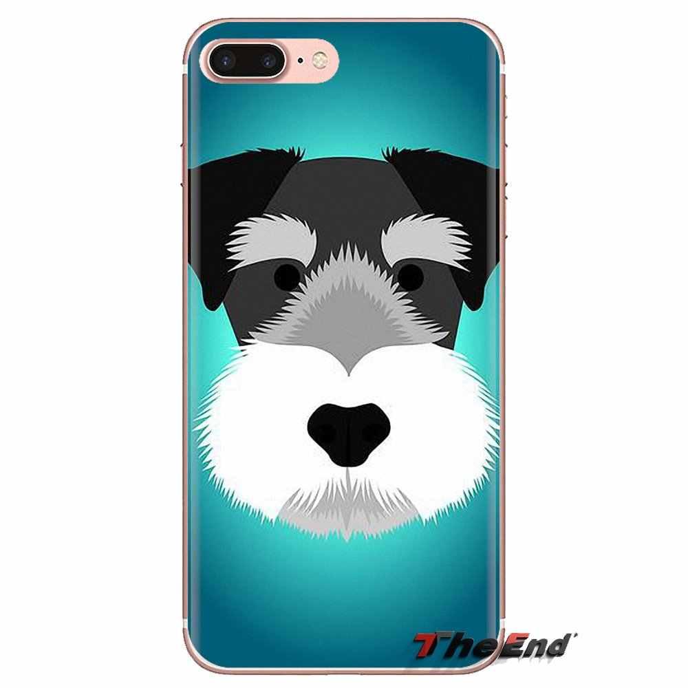 Miniatuur Schnauzer Puppy dog Art Voor Xiaomi Mi3 Samsung A10 A30 A40 A50 A60 A70 Galaxy S2 Note 2 Grand core Prime Siliconen Case