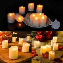 12 шт/корт Светодиодная имитация свечи огневое освещение электронная