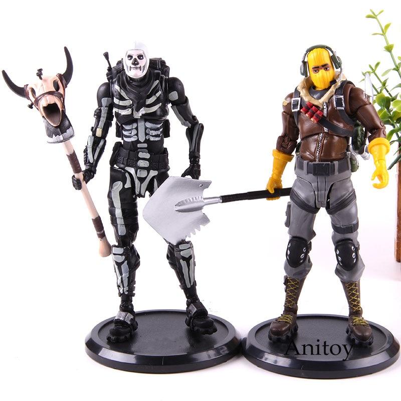 Hot Game Figure Battle Royale Raptor Skull Trooper Action Figure PVC Collectible Model Game Toy 17cm