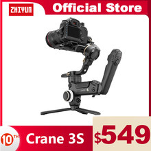 ZHIYUN Crane 3S grue officielle 3S/SE 3 axes cardan stabilisateur de poche soutien 6.5KG DSLR caméra caméscope caméras vidéo pour Nikon Canon