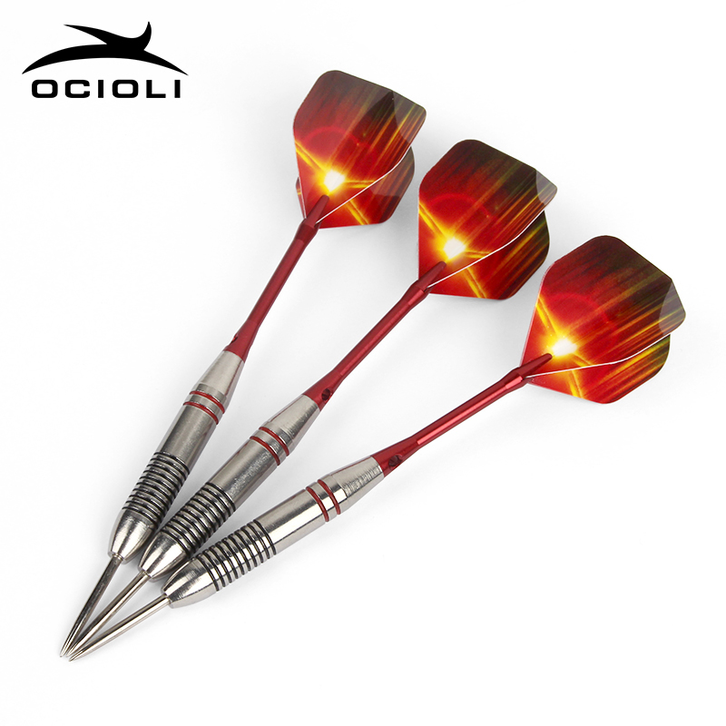 New 3 Pcs/Sets Of Professional Darts 24g Steel Tip Darts Aluminium Shafts Nice Dart Flights Indoor Sports