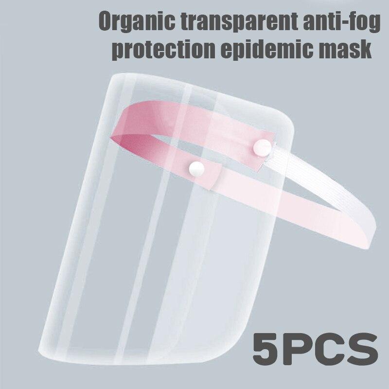 Spring Coronary Virus Transparent Mask Protective Face Shield Transparent PVC Anti-fog Saliva And Anti-virus Protection Glasses