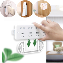 Fixed plate Used for  Power Strip Fixator Home appliance remote control Wifi router tissue box Wall No need to drill Holder