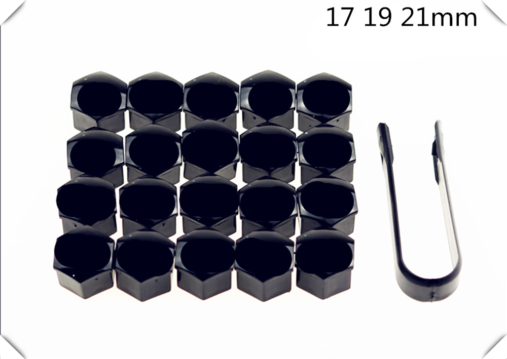 Car shape 20Pcs universal rust 17 <font><b>19</b></font> 21mm <font><b>tire</b></font> nut bolt protection cap for Mercedes Benz AMG GT GLC GLE GLS R Class ML GL G R image