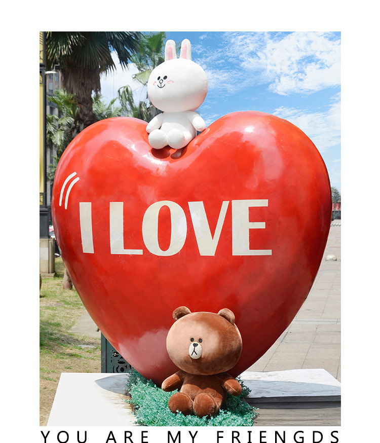 Brown bear and cony plush toy brown pillow toy lovely Cartoon doll for girlfriend birthday and gift for Children present