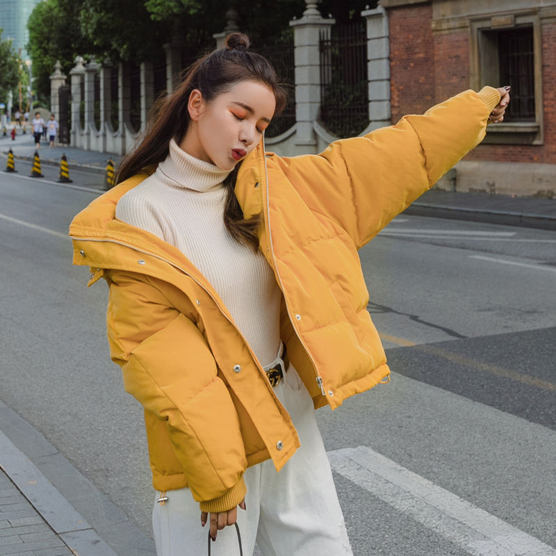 Winter Cotton Padded Short Parkas Coats Women Hooded Thicken Puffer Jacket Female Plus Size 2019 Solid Warm Casual Ladies Coat